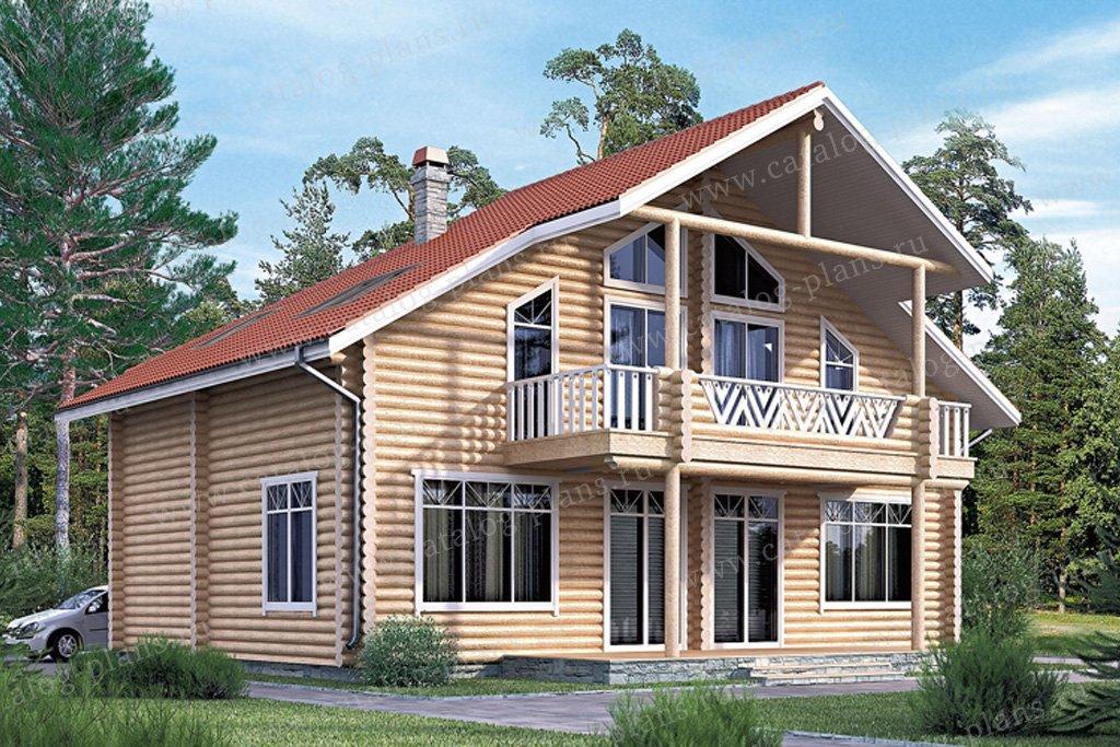 Проект жилой дом #11-08 материал - дерево, стиль скандинавский