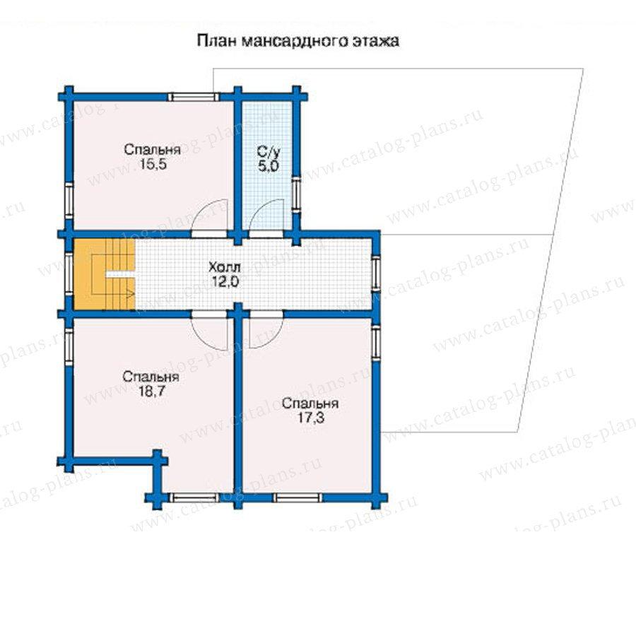 План 2-этажа проекта 12-49