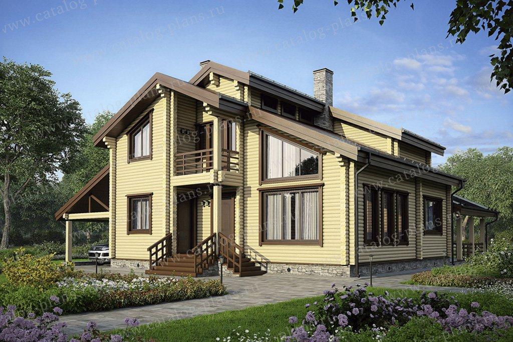 Проект жилой дом #11-21 материал - дерево, стиль современный