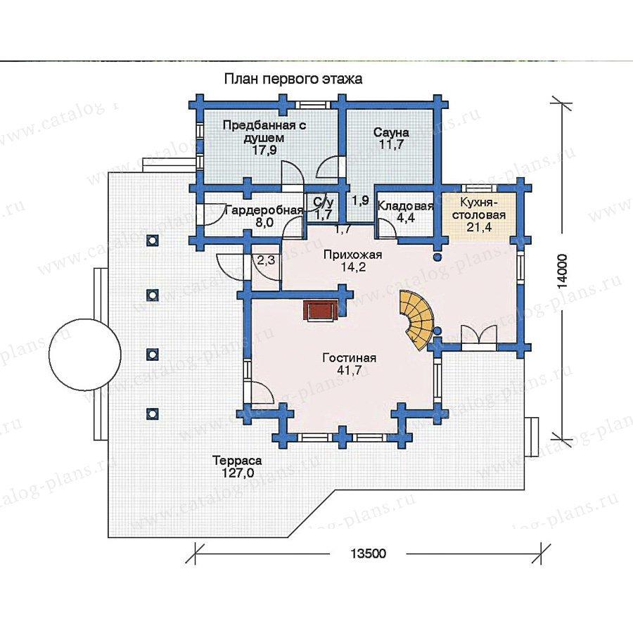 План 1-этажа проекта 11-16