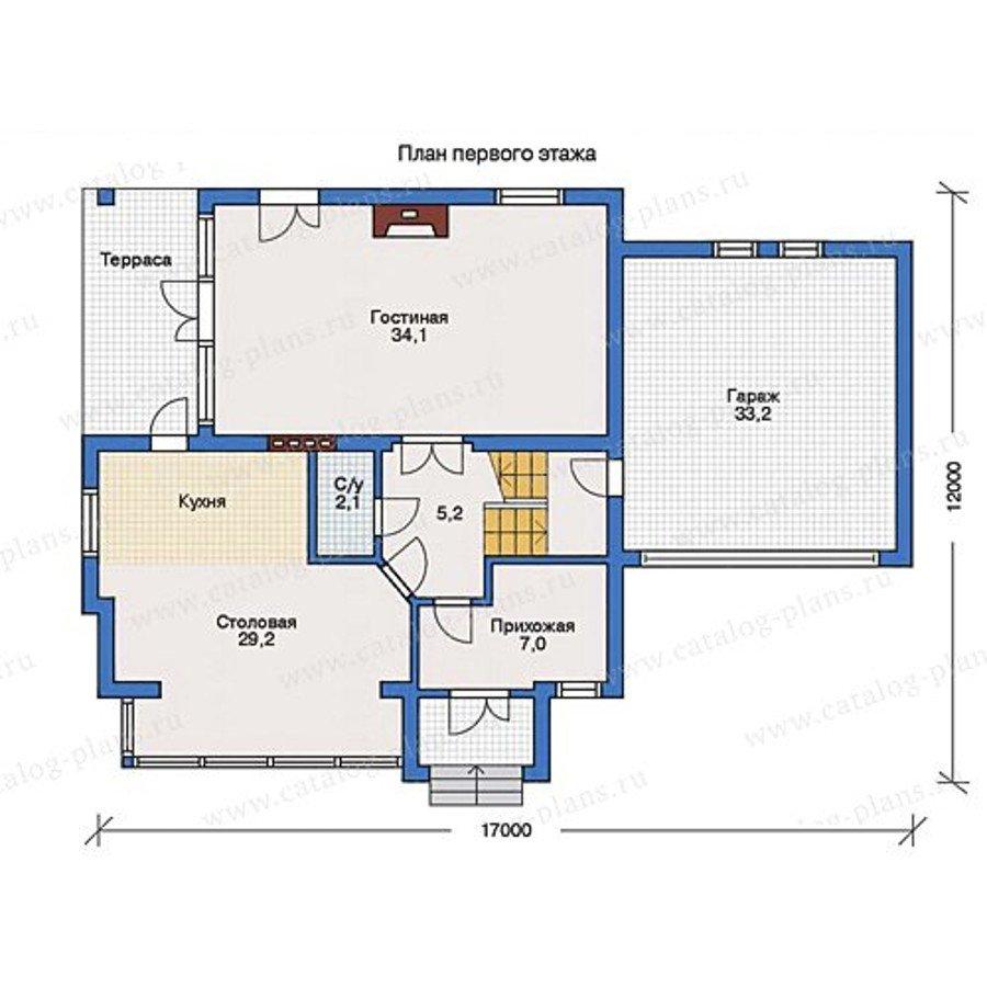 План 1-этажа проекта 31-76