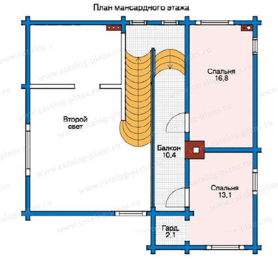 План 2-этажа проекта 11-18