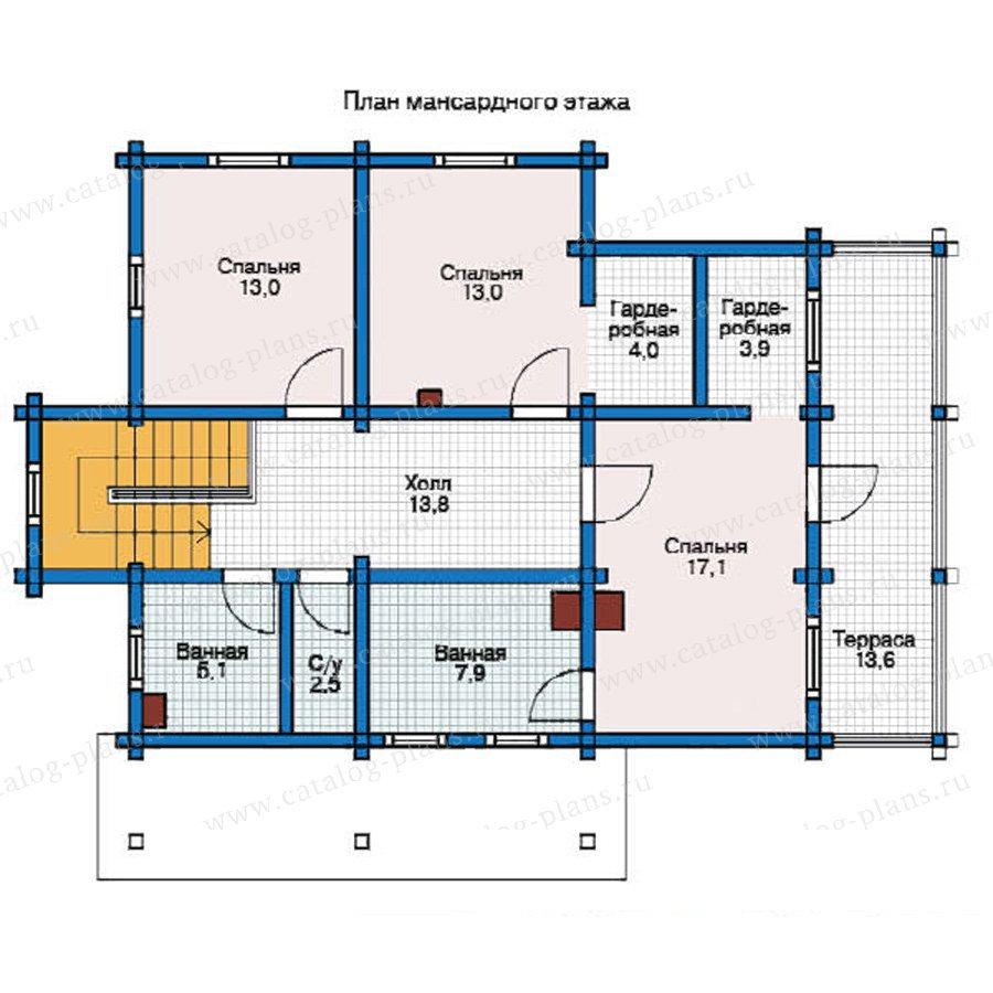 План 2-этажа проекта 12-35