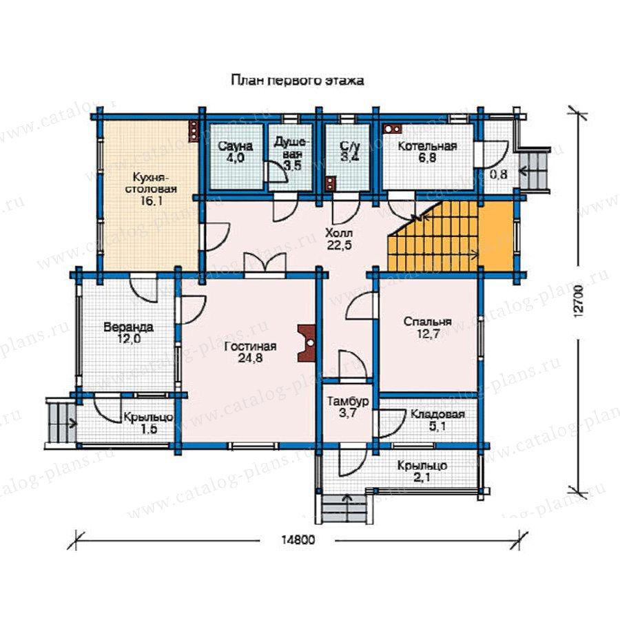 План 1-этажа проекта 11-13