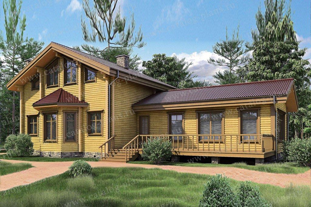 Проект жилой дом #11-32 материал - дерево, стиль скандинавский