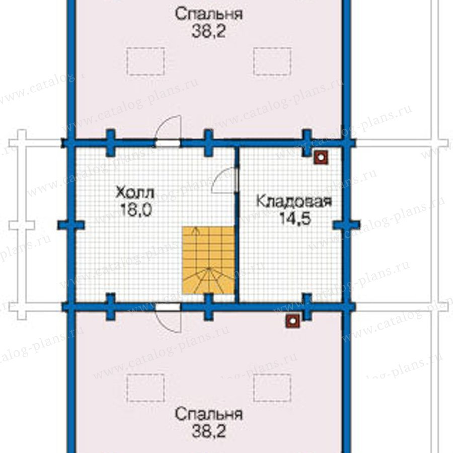 План 3-этажа проекта 12-47