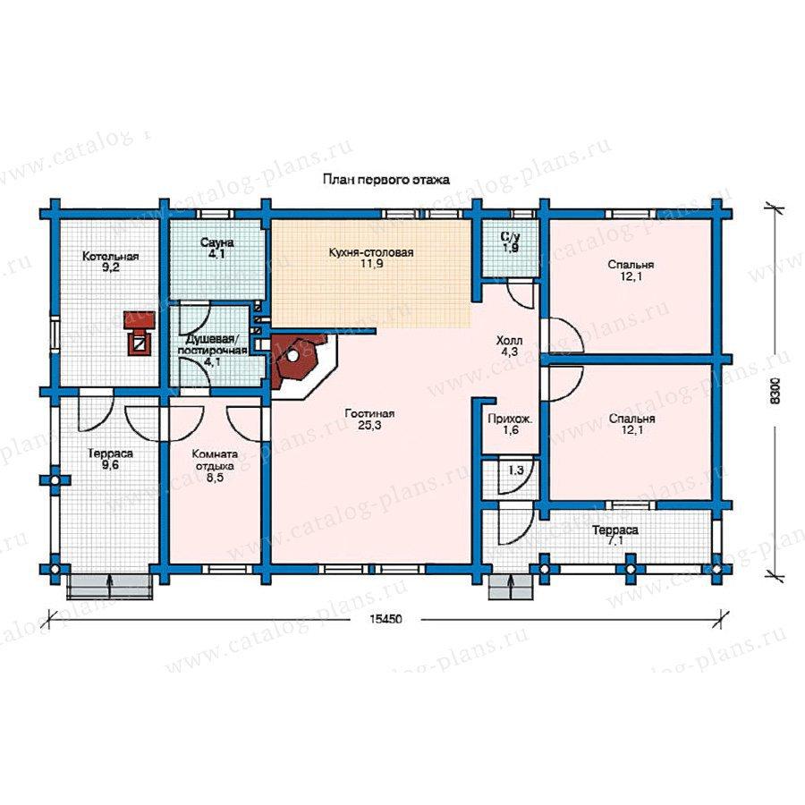 План 1-этажа проекта 11-19