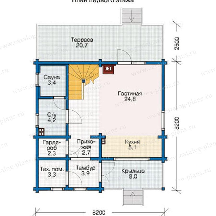 План 1-этажа проекта 12-38