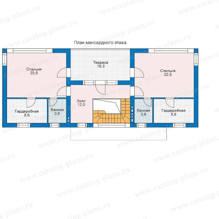 План 2-этажа проекта 52-50