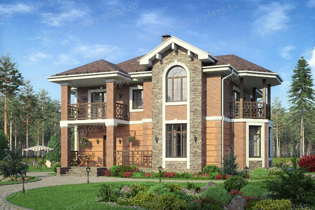 Проект жилой дом #40-29 материал - кирпич, стиль европейский