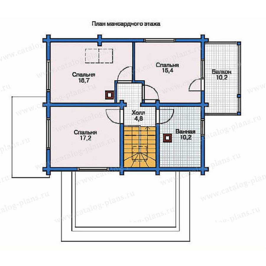 План 2-этажа проекта 11-90