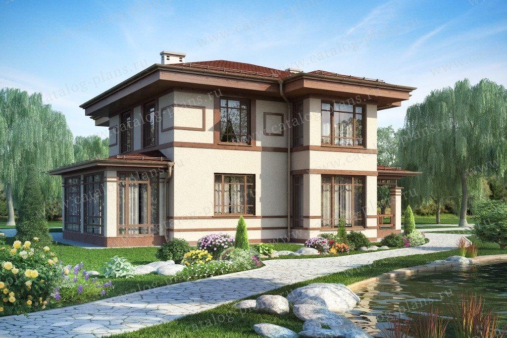 Проект жилой дом #60-07 материал - газобетон, стиль модерн
