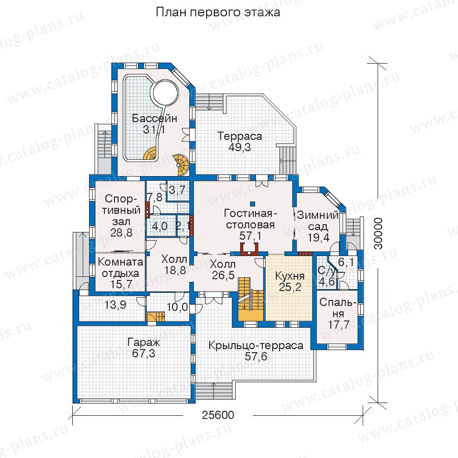 План 2-этажа проекта 52-04
