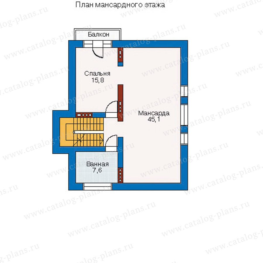 План 4-этажа проекта 51-34