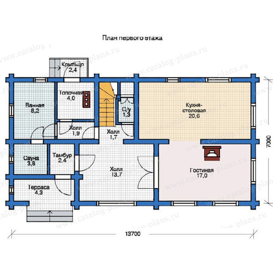 План 1-этажа проекта 11-92