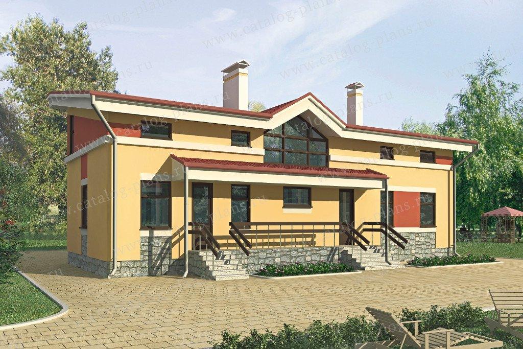 Проект жилой дом #52-50 материал - газобетон, стиль европейский