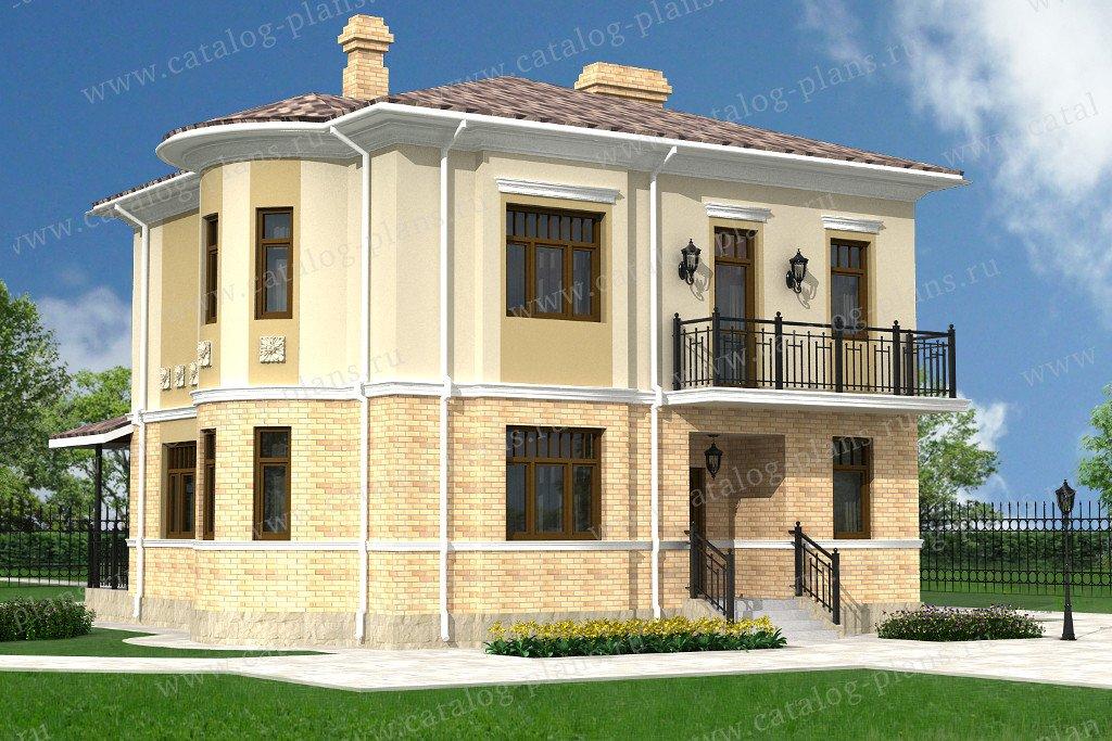 Проект жилой дом #60-03 материал - газобетон, стиль классический