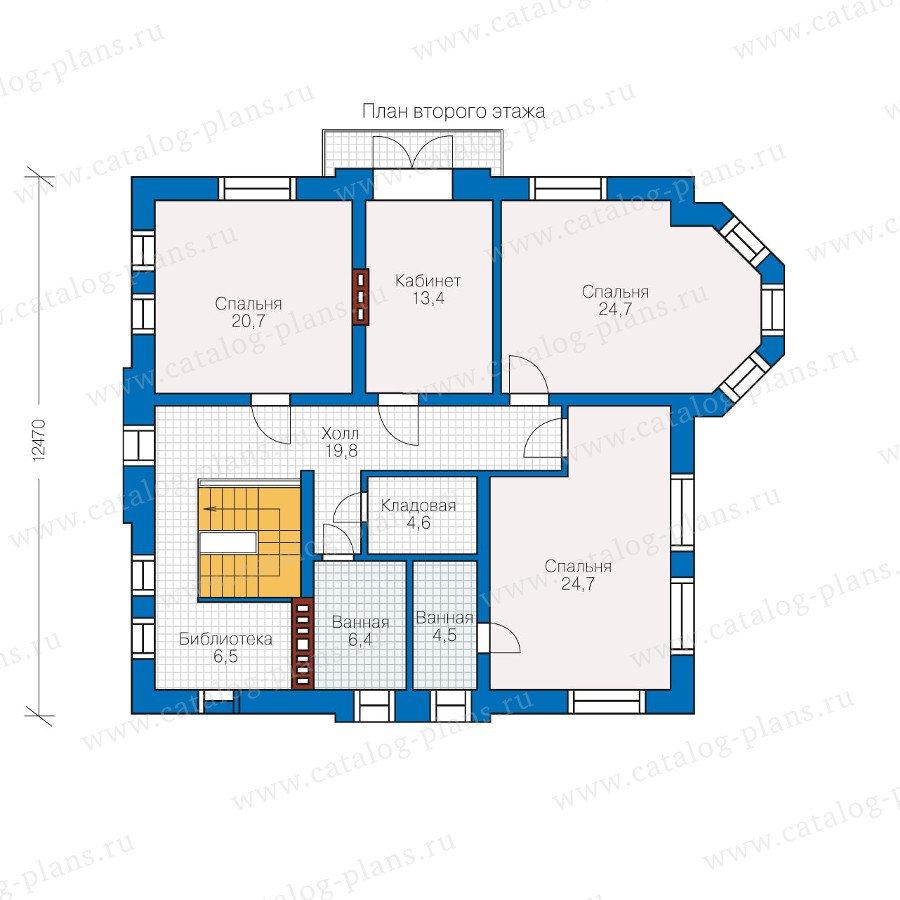 План 2-этажа проекта 60-05