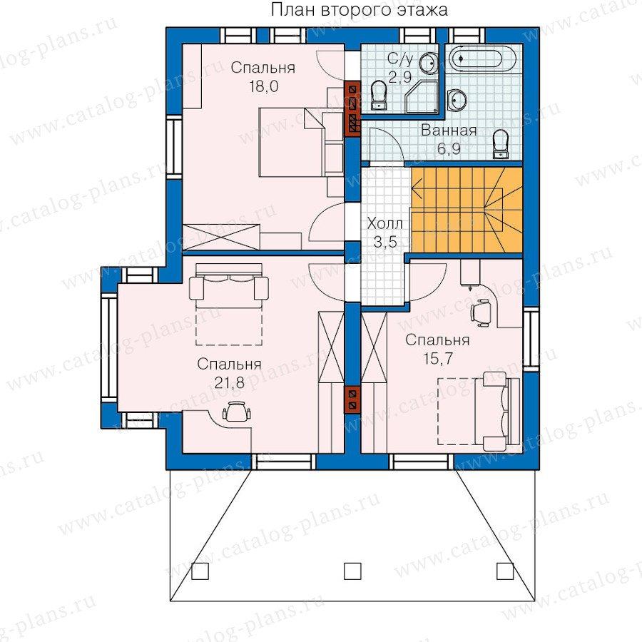 План 2-этажа проекта 60-06