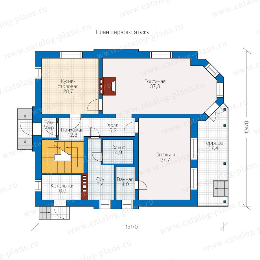План 1-этажа проекта 60-05