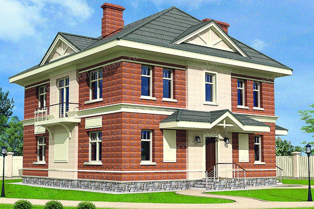 Проект жилой дом #60-05 материал - газобетон, стиль европейский
