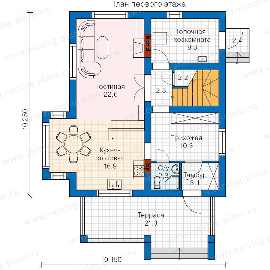 План 1-этажа проекта 60-06