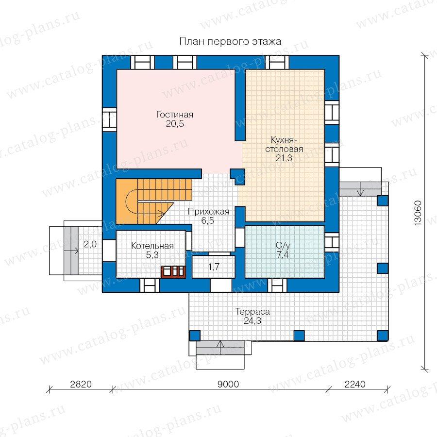 План 1-этажа проекта 59-13