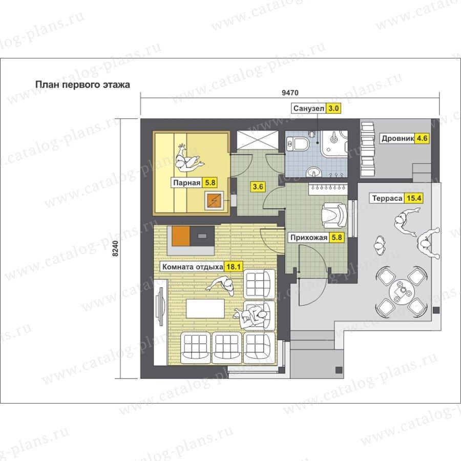 План 1-этажа проекта 59-19A