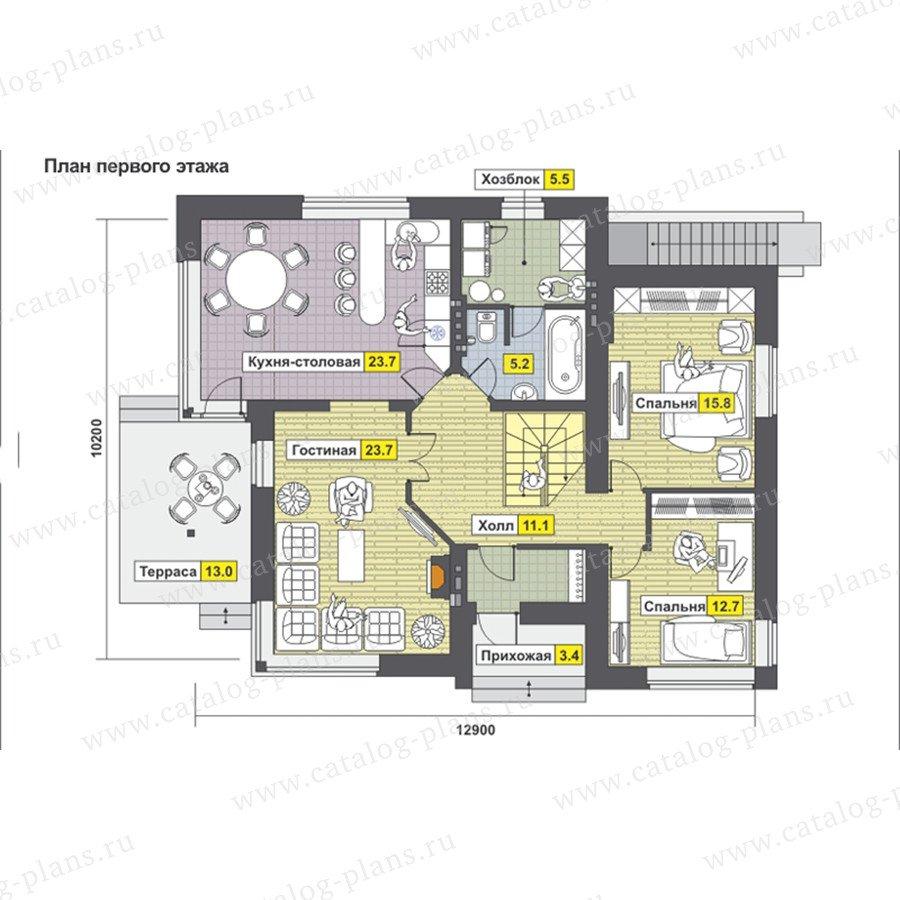 План 2-этажа проекта 59-23AK