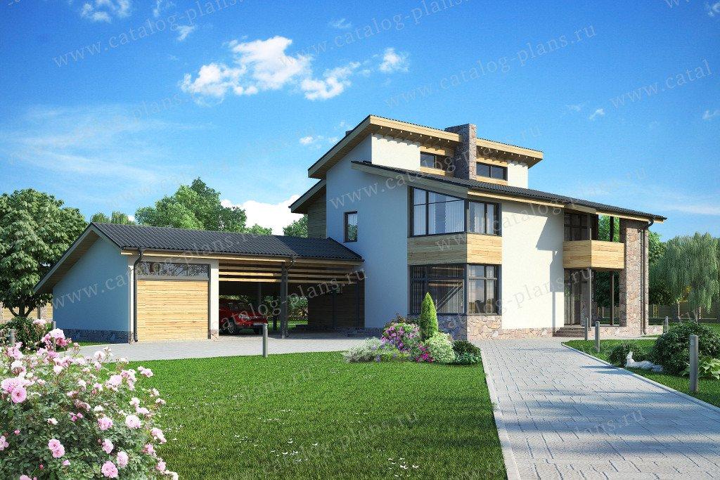 Проект жилой дом #59-26B материал - газобетон, стиль скандинавский