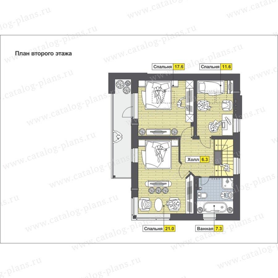План 2-этажа проекта 59-23K