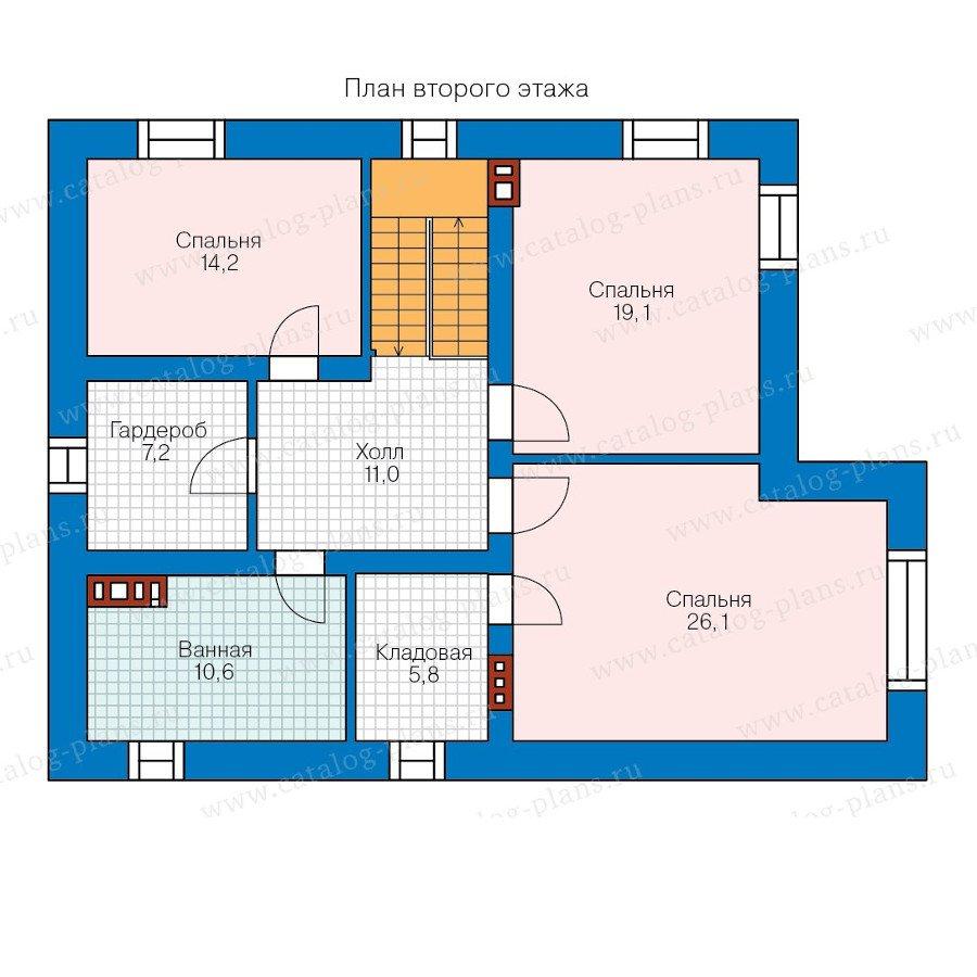 План 2-этажа проекта 57-62A