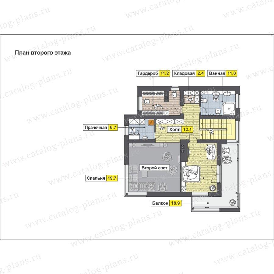 План 2-этажа проекта 59-26B