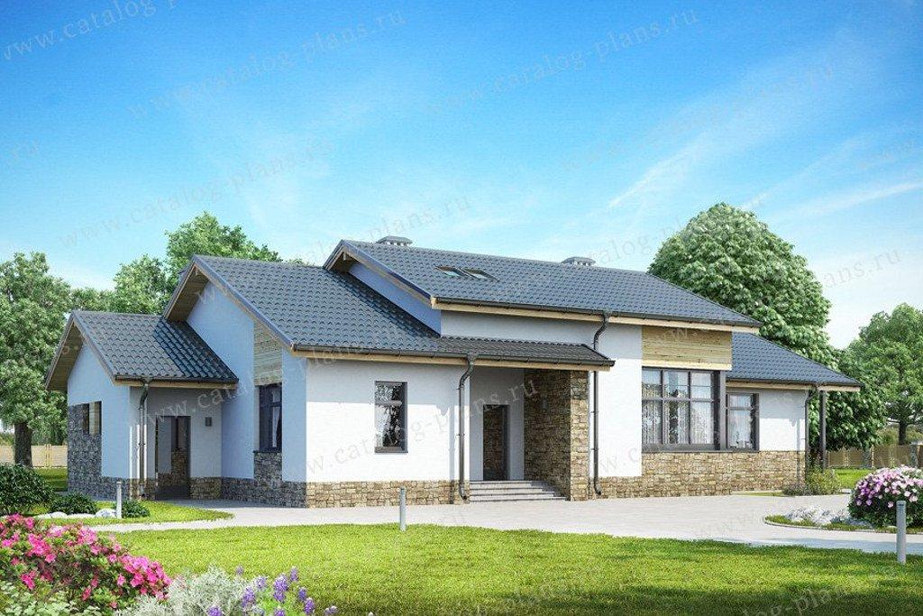 Проект жилой дом #59-22B материал - газобетон, стиль скандинавский