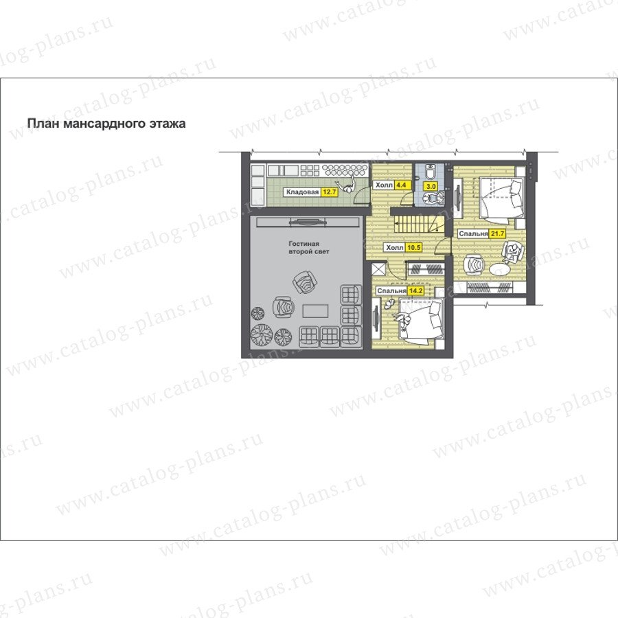 План 2-этажа проекта 59-22G