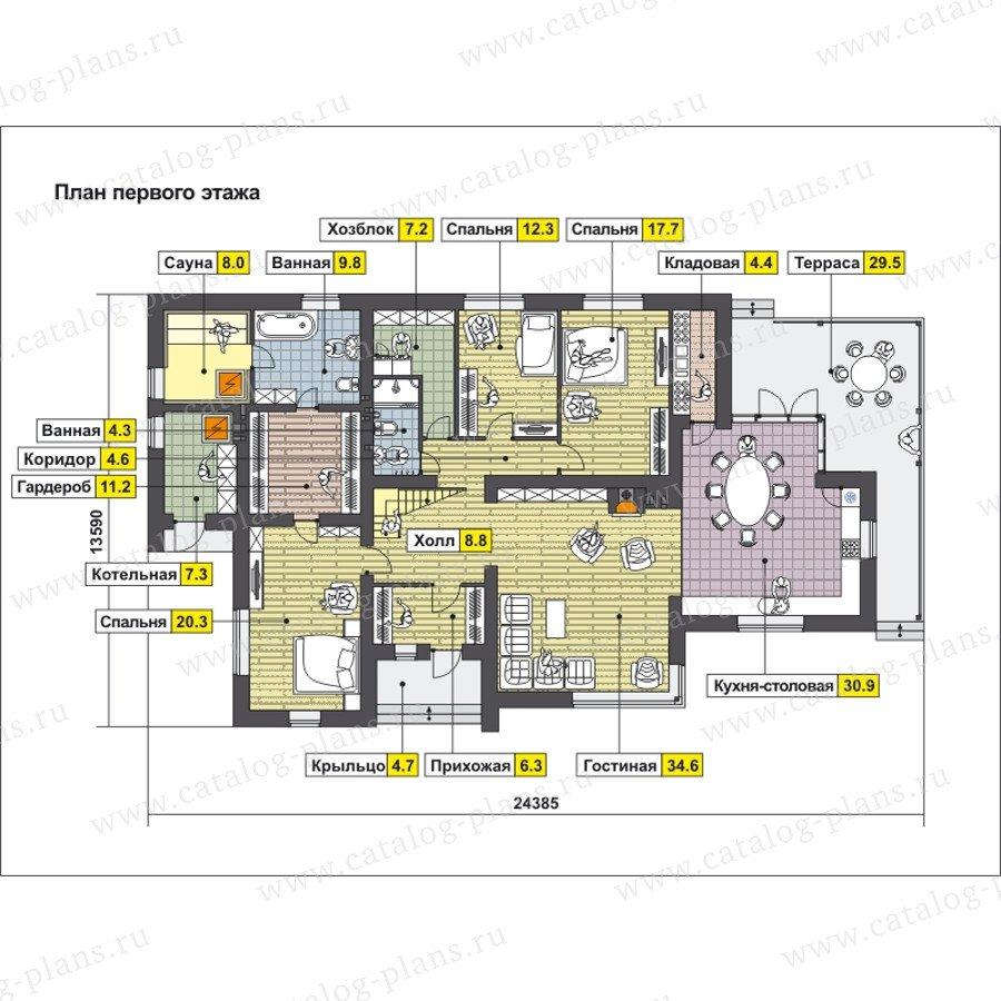 План 1-этажа проекта 59-22B