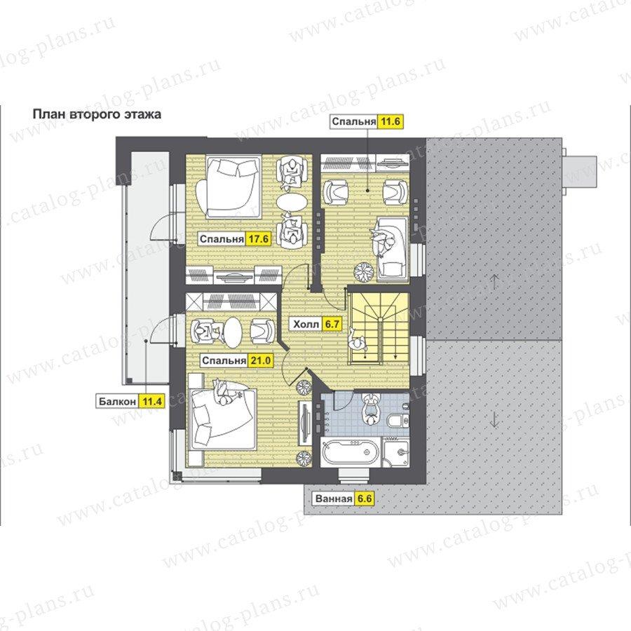 План 3-этажа проекта 59-23AK