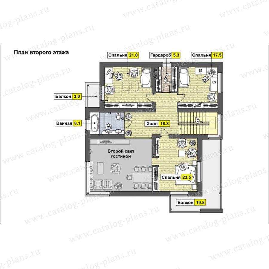 План 2-этажа проекта 59-26A
