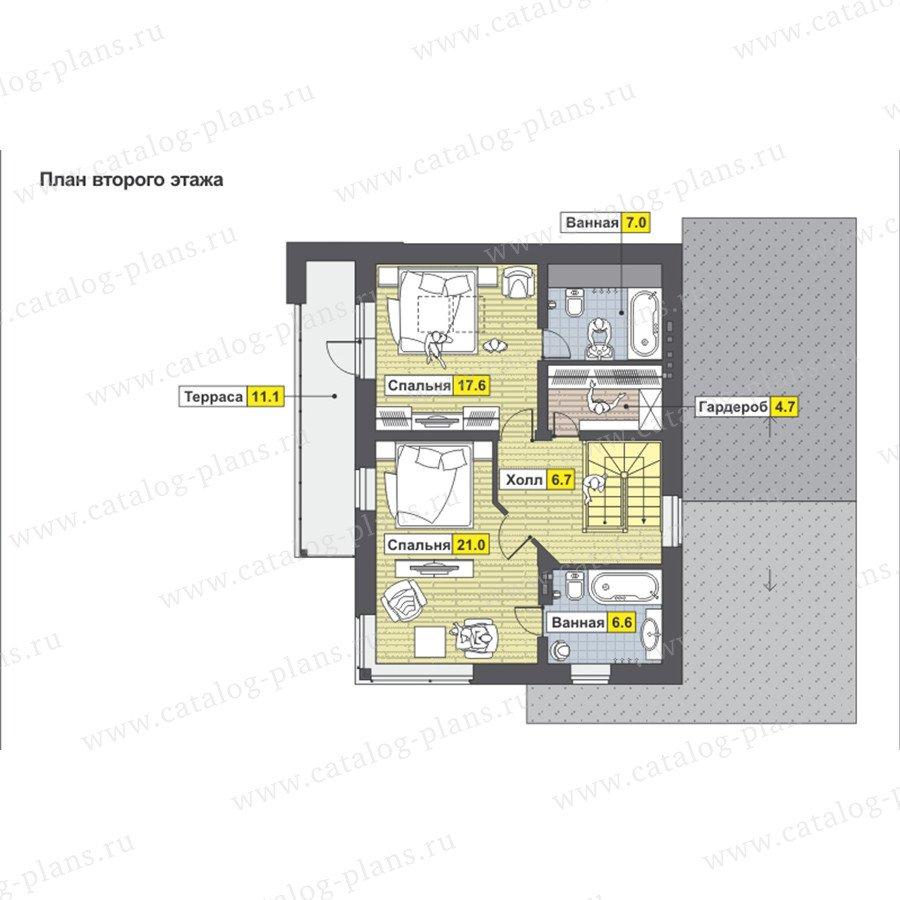 План 2-этажа проекта 59-23BK