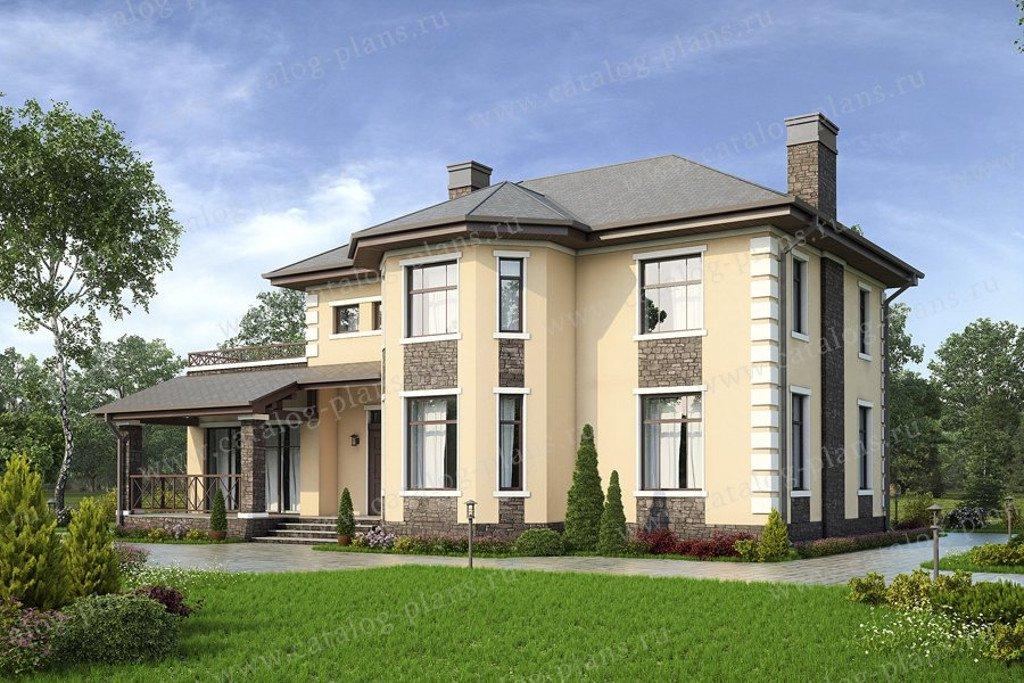Проект жилой дом #57-25B материал - газобетон, стиль европейский
