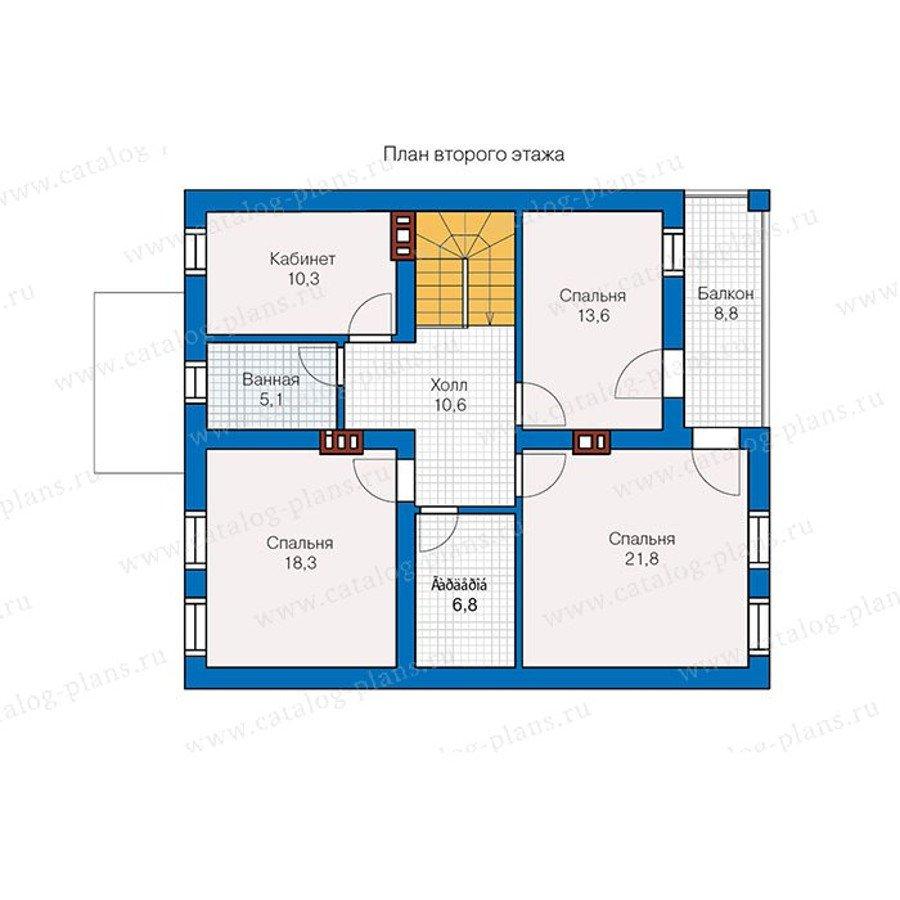 План 2-этажа проекта 57-35K
