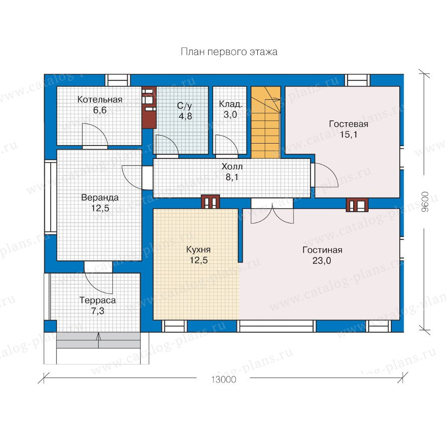 План 1-этажа проекта 57-26AK