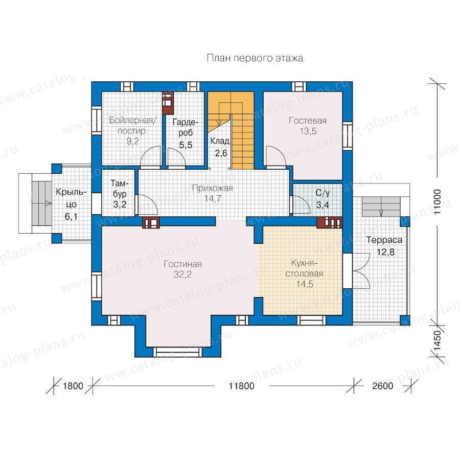 План 1-этажа проекта 57-30K