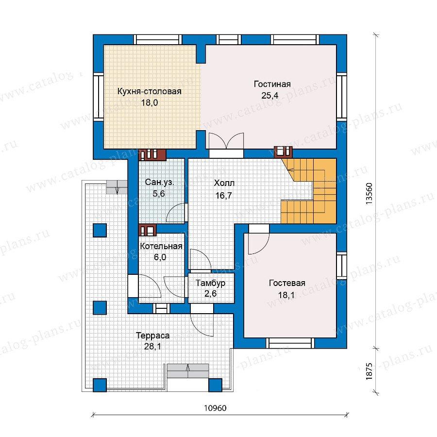 План 1-этажа проекта 57-42L