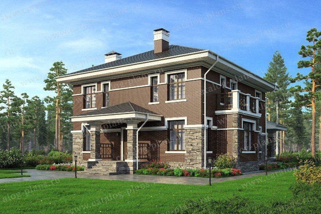 Проект жилой дом #57-30L материал - газобетон, стиль европейский
