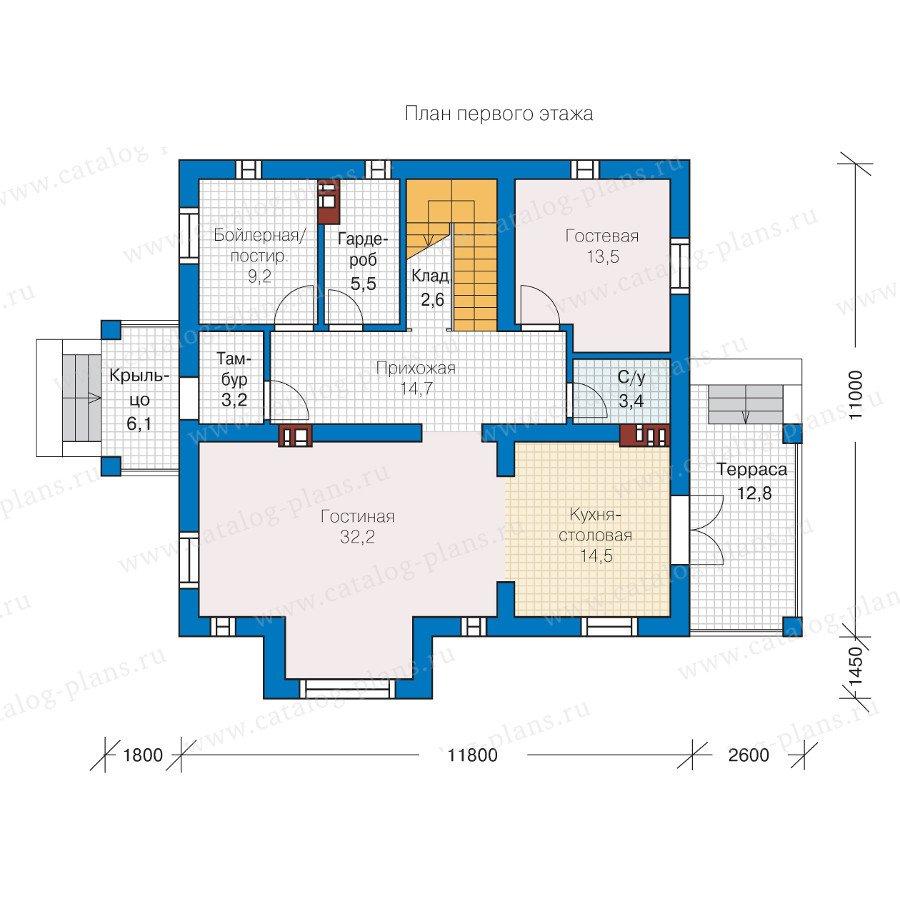 План 1-этажа проекта 57-30L