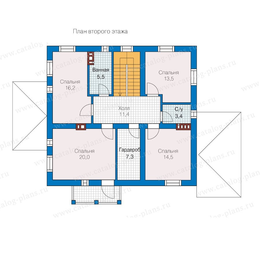 План 2-этажа проекта 57-30L