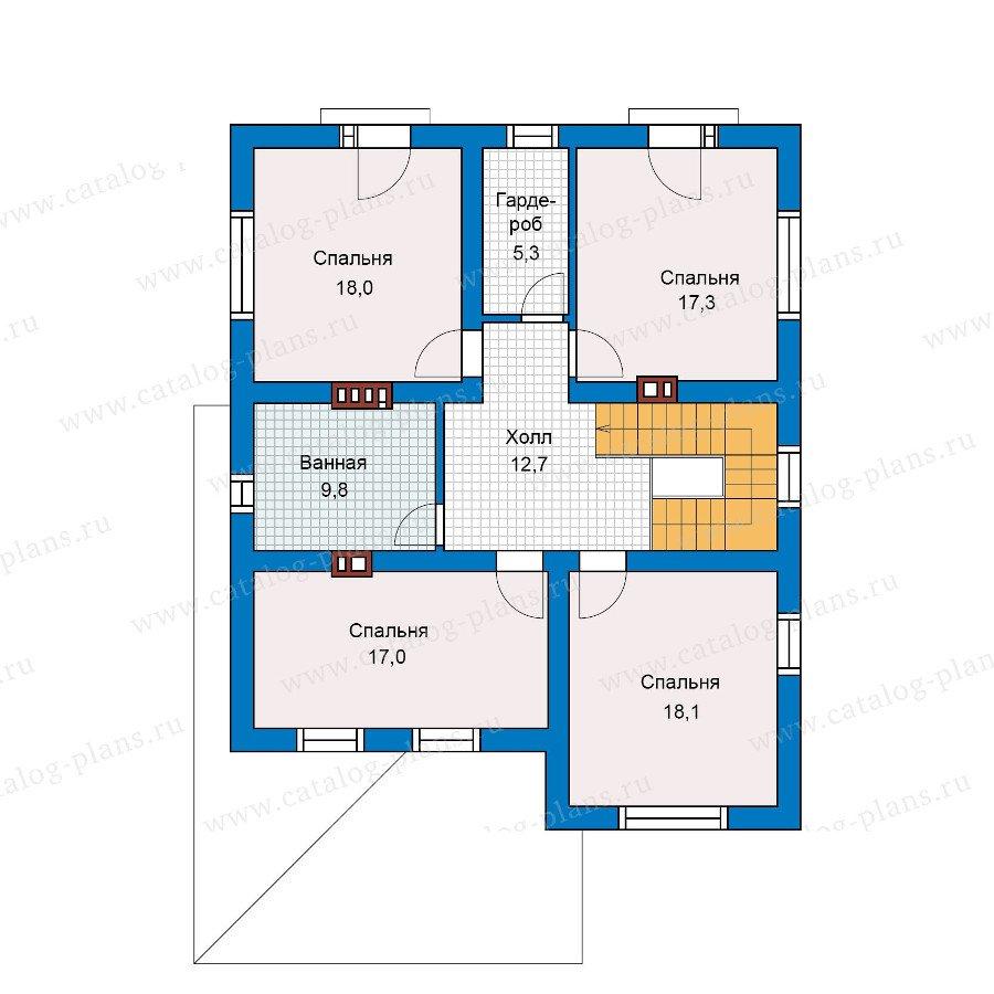 План 2-этажа проекта 57-42L