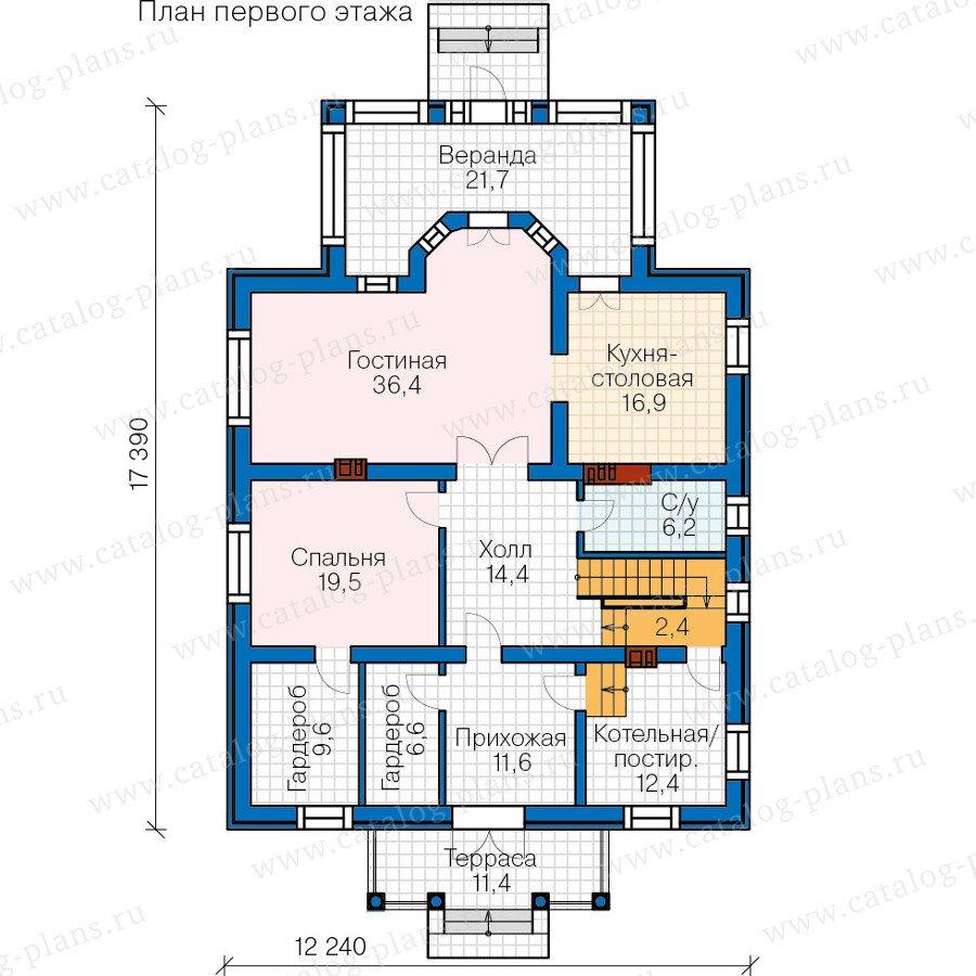 План 1-этажа проекта 57-15B
