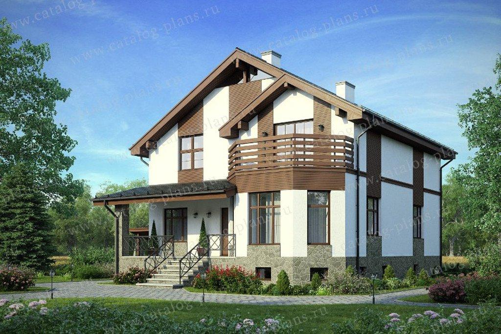 Проект жилой дом #57-43A материал - кирпич, стиль скандинавский